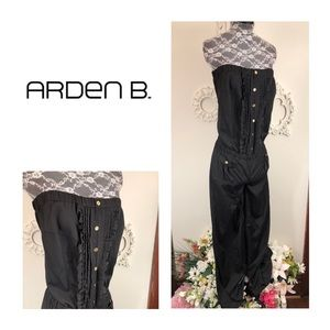 New Arden B. Strapless Ruffle Jumpsuit
